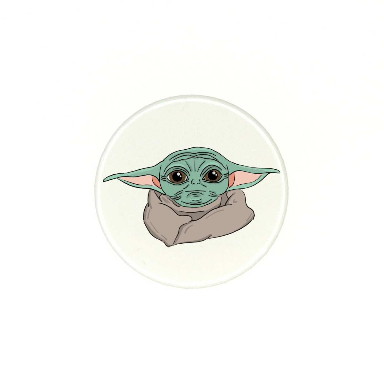 Placka 37mm - baby yoda